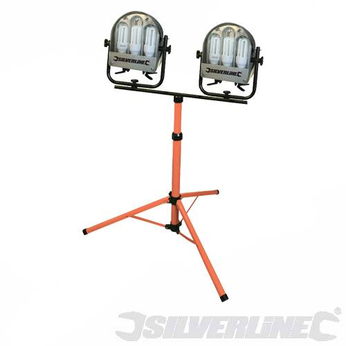 Double Site Light With Tripod Low Wattage