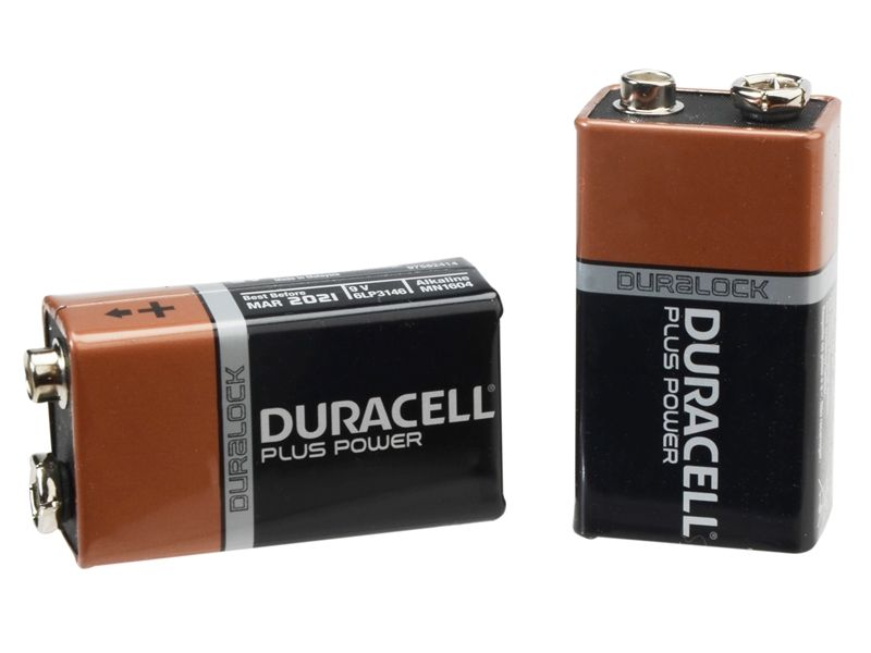 duracell 9 volt alkaline batteries pack of two. Black Bedroom Furniture Sets. Home Design Ideas
