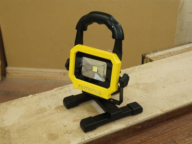 faithfull rechargeable led work light with magnetic base. Black Bedroom Furniture Sets. Home Design Ideas