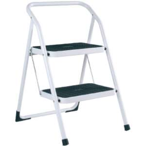 Abru Arrow White Painted Steel 2 Steps Stepstool