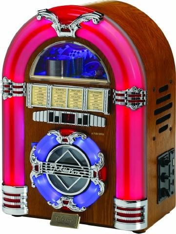 Steepletone 5045174349192 USB CD Rock Mini LED Jukebox